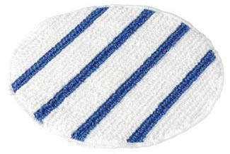 White bannet with blue strip