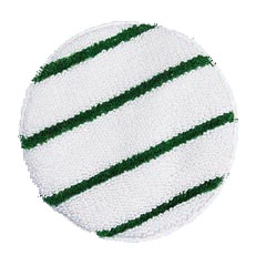 White bannet with green strip
